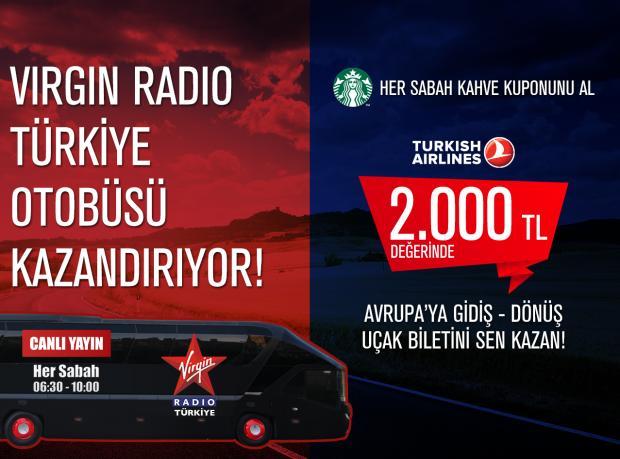 Virgin Radio Türkiye Otobüsü Yollarda