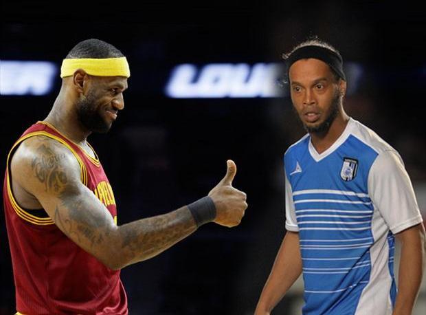LeBron'dan Ronaldinho'ya Hediye