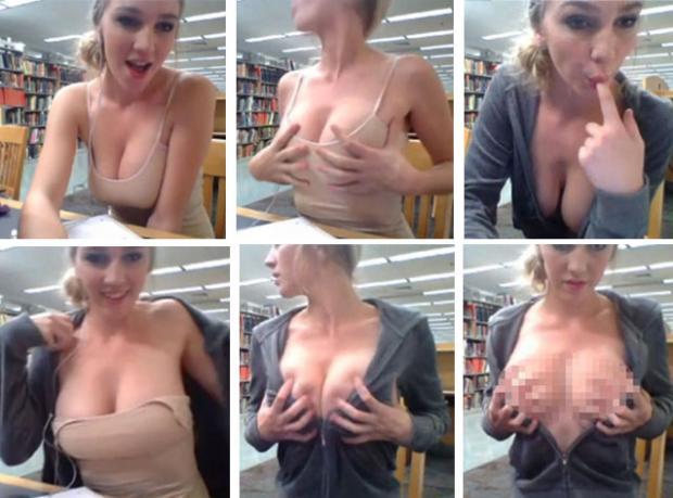 Okul Kütüphanesinde Porno Çekti!
