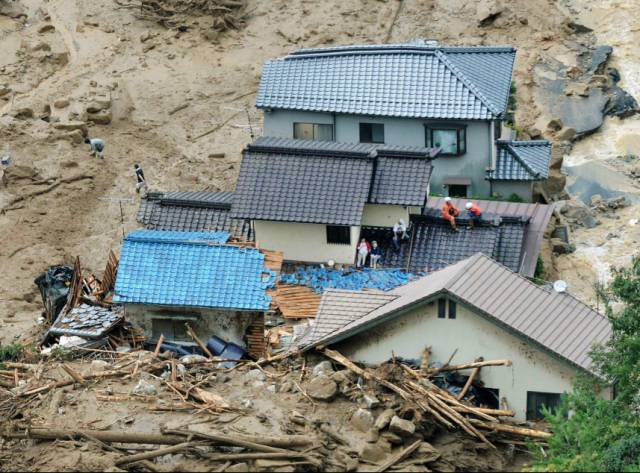 Japonya'da heyelan: En az 36 ölü
