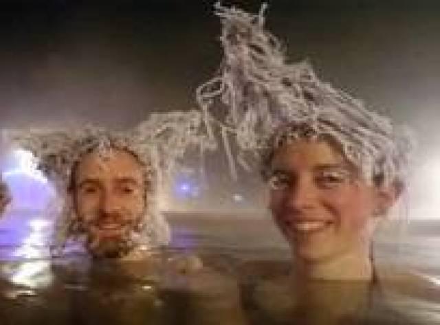 -30 santigrat derecede 'donuk saç' yarışması