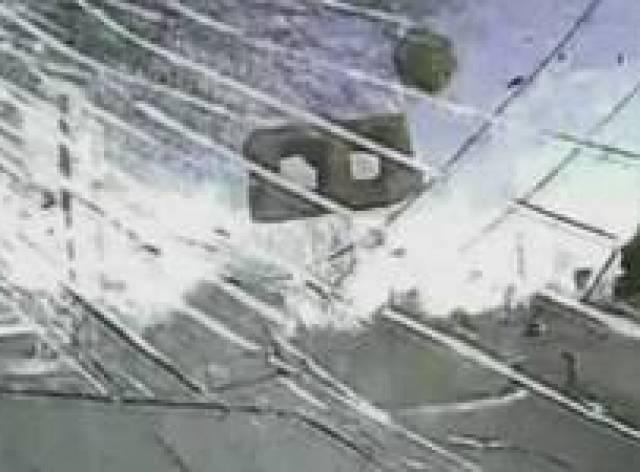 ABD polisi şüpheliyi 'çarparak' yakaladı