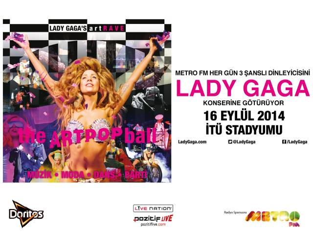 Lady Gaga Konserine Davetiye Kazan