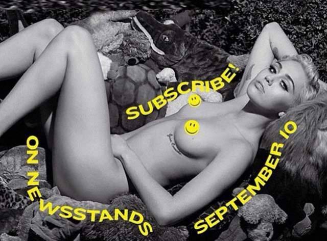 Miley Yine Çıplak!