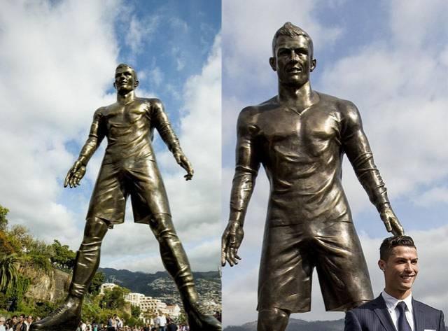 Ronaldo'nun Müstehcen Heykeli!