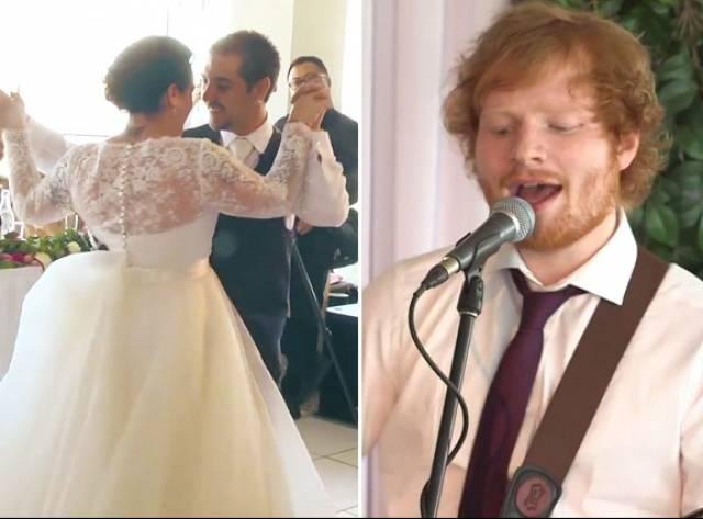Yoksul Çifte Ed Sheeran Sürprizi
