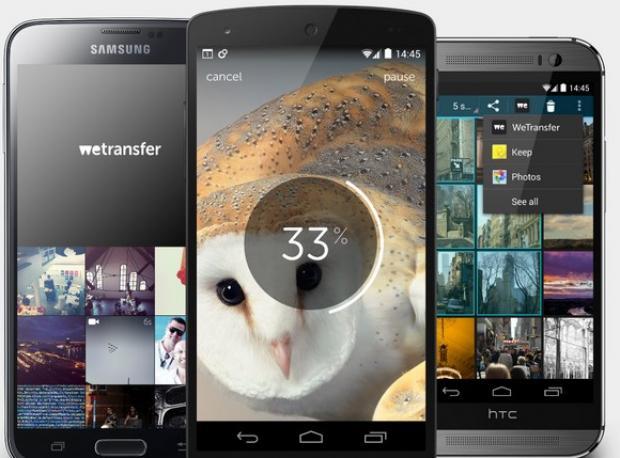 WeTransfer Android Uygulaması Huzurlarımızda