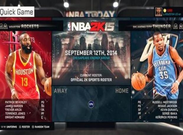 NBA 2K15'in Takım Seçme Menüsü Nasıl Olacak?