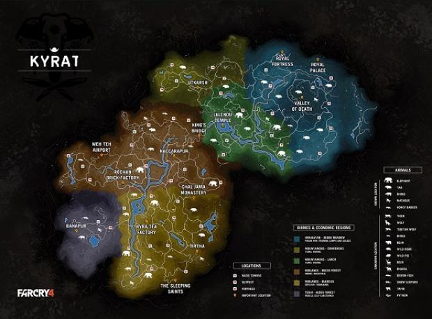 Far Cry 4'ün Haritası Ortaya Çıktı