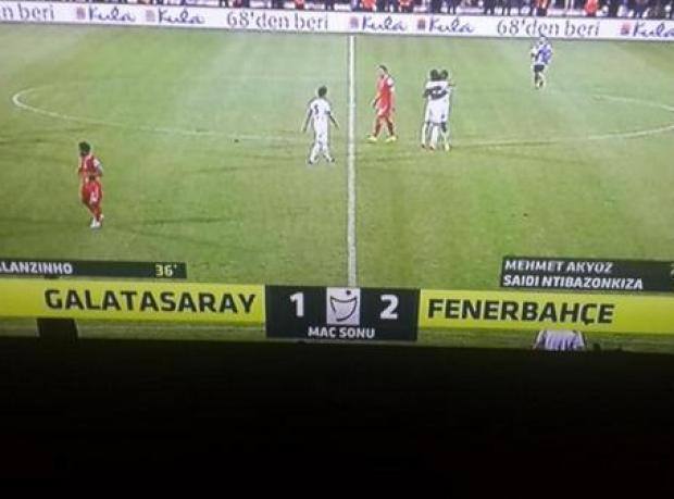 Galatasaray: 1 Fenerbahçe: 2