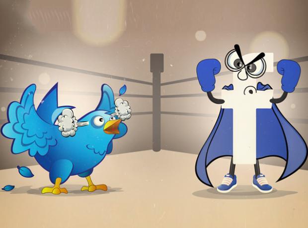 Yılın Derbisi: Facebook Vs. Twitter!
