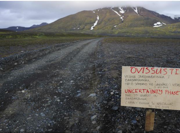 İzlanda'da volkan tahliyesi