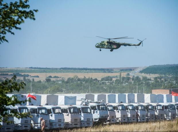 Rusya'nın yardım konvoyu gümrükte denetleniyor