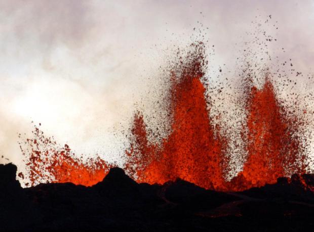 Bardarbunga Yanardağı'nda lavlarla burun buruna