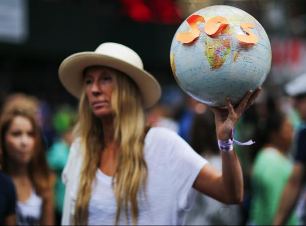 İklim değişikliği: Yüzbinlerce kişi yürüdü