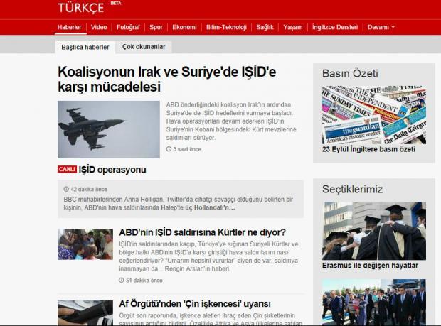 BBC Türkçe sayfası yenilendi