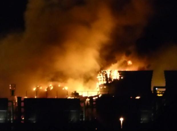 Elektrik santralinde büyük yangın