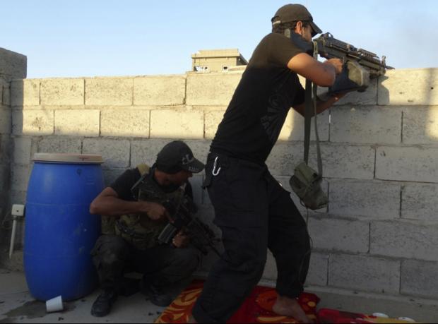 Türkmen bölgesinde IŞİD'e karşı polis Peşmerge birliği