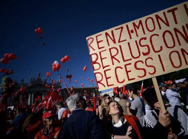 Roma'da 1 milyon kişi hükümeti protesto etti