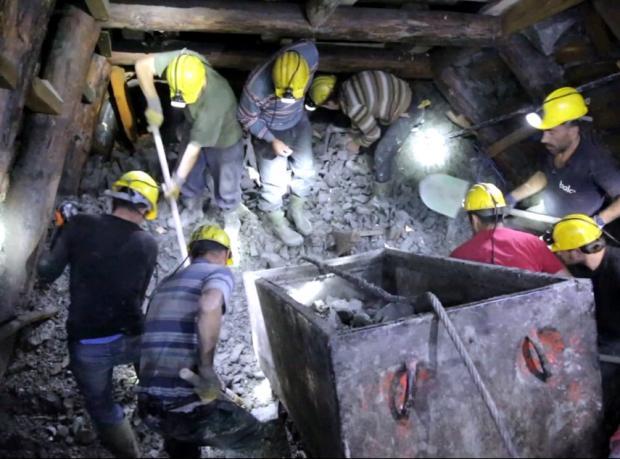 Ermenek'te madendeki çalışmaların görüntüleri yayımlandı
