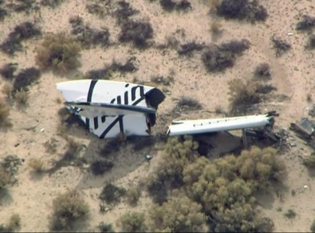 Uzaya turist taşıyacak araç deneme uçuşunda düştü