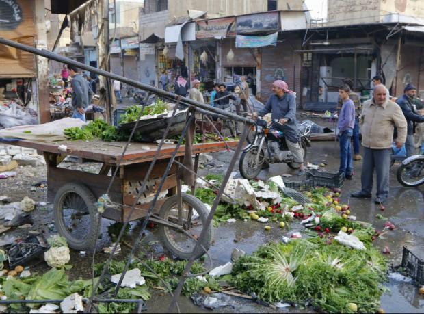 'Rakka'daki bombardımanda en az 95 kişi öldü'