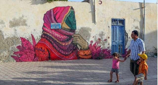 Sokakları Sanat Galerisine Çevirdiler